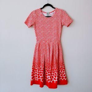 Lularoe White and Red Polkadot Dress Size XS